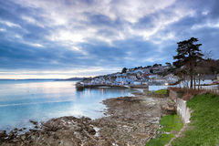 Dusk at St Mawes Royalty Free Stock Photos