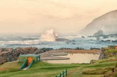 Dusk at Storms River Mouth Royalty Free Stock Image