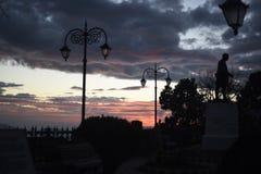 Dusk. Sunset view at mall road, shimla, himachal pradesh Stock Photos