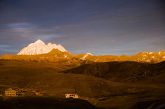 The dusk of Tibetan mountain Stock Photos