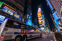 Dusk at Times Suqare Manhattan, New York United State Royalty Free Stock Images