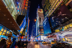 Dusk at Times Suqare Manhattan, New York United State Royalty Free Stock Photography