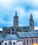 Dusk at Truro Cathedral Stock Image