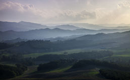 Dusk in Tuscany, Italy Royalty Free Stock Image