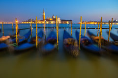 At dusk in Venice Stock Images