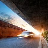 Dusk, when the viaduct Stock Photography