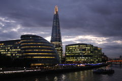 Dusk view of Buildings in Central London Royalty Free Stock Images