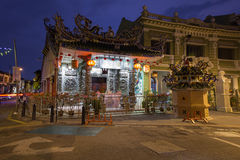 Dusk view of the Choo Chay Keong Temple, Penang Stock Images