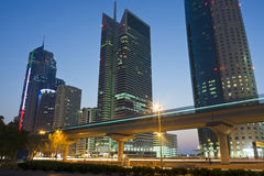 Dusk view of Dubai Royalty Free Stock Images