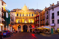 Dusk view of Plaza Mayor in  Cuenca Royalty Free Stock Photos