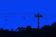Dusk view of ropeway in Fragrance Stock Photography