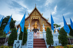 Dusk View of the Wat Phra Singh, Chiang Mai, Thailand Royalty Free Stock Photo