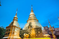 Dusk View of the Wat Phra Singh, Chiang Mai, Thailand Royalty Free Stock Photos
