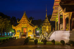 Dusk View of the Wat Phra Singh, Chiang Mai, Thailand Stock Photography