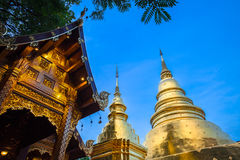 Dusk View of the Wat Phra Singh, Chiang Mai, Thailand Stock Image