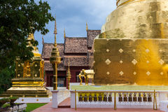 Dusk View of the Wat Phra Singh, Chiang Mai, Thailand Royalty Free Stock Images