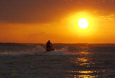 Dusk waverunner Stock Images