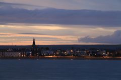 Dusk Weymouth seafront England Royalty Free Stock Photo