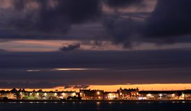 Dusk Weymouth seafront England Stock Photography
