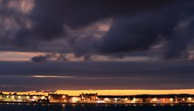 Dusk Weymouth seafront England Royalty Free Stock Photography