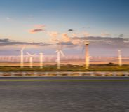Road with clean energy background stock images
