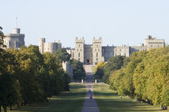 Dusk at Windsor Castle Royalty Free Stock Photos