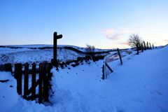Dusk at Winnats Pass, Derbyshire, UK. Royalty Free Stock Photo