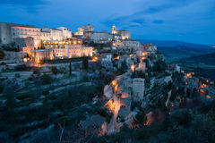 Dusk in Gordes Royalty Free Stock Photos