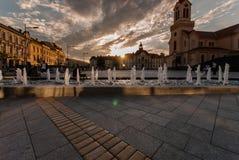 Dusk in Zrenjanin, Vojvodina, Serbia. Photo of Dusk in Zrenjanin, Vojvodina, Serbia Stock Photography
