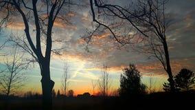 Dusky небо Онтарио Стоковая Фотография RF