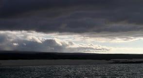 Dusky Beach. Galápagos Island Sky & Beach royalty free stock photos