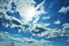 Dusky cloudy sky background Royalty Free Stock Photo
