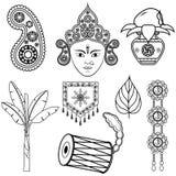 Dussehra装饰的设计 免版税库存图片