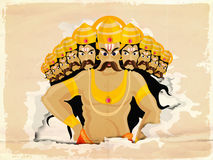 Dussehra celebration with angry Ravana. Royalty Free Stock Photography
