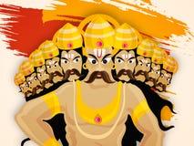 Dussehra celebration with angry Ravana. Stock Image