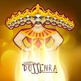 Dussehra celebration with Burning Ravana. Royalty Free Stock Photo