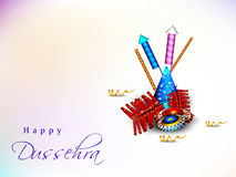 Dussehra festival background. Royalty Free Stock Photography