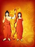 Dussehra festival background. Stock Image