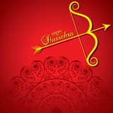 Dussehra festival greeting or poster design Stock Photography