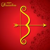 Dussehra festival greeting or poster design Royalty Free Stock Photo