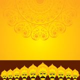 Dussehra festival greeting or poster design Stock Photo