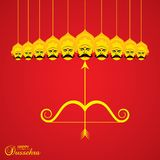 Dussehra festival greeting or poster design Royalty Free Stock Images