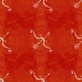 Dussehra, Navratri-Festival in Indien 10.-19. Oktober Hindischer Feiertag Pfeil und Bogen von Lord Rama Nahtloses Muster Schmutz  vektor abbildung