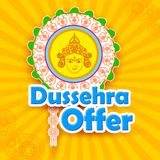 Dussehra Offer with goddess Durga Stock Photography