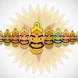 Dussehra pour le festival de Ravan Indian avec ses dix têtes malades Illustration Stock