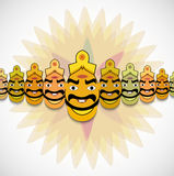 Dussehra for Ravan Indian festival with his ten he Stock Image