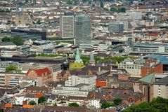 Dusseldorf from above Royalty Free Stock Photo