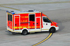 Dusseldorf Airport fire brigade royalty free stock images