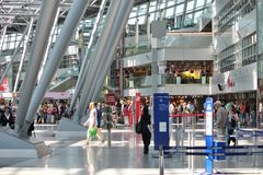 Dusseldorf Airport Royalty Free Stock Photo