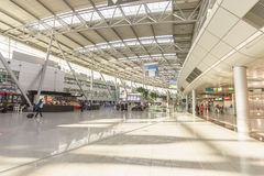 Dusseldorf airport interior Stock Photos